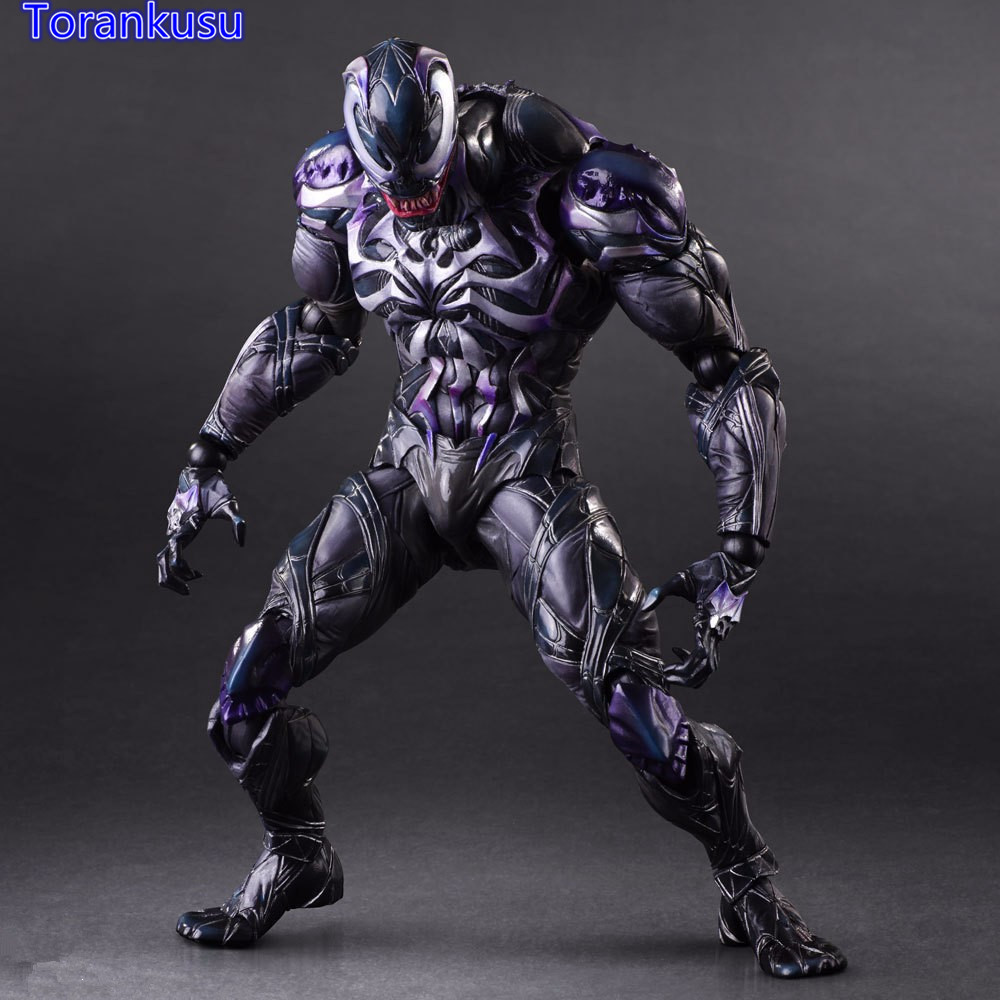 Venom Action Figure Play Arts Kai Spiderman Venom Collectible Model Toy 260mm PVC Anime Avenger Playarts Kai PA27 play arts kai street fighter iv 4 gouki akuma pvc action figure collectible model toy 24 cm kt3503