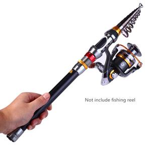 Image 4 - 2.4m Portable Carbon Fiber 9 Sections Fishing Rod Telescopic Sea Fishing Pole Rod Sea Device Fishing Tackle De Pesca