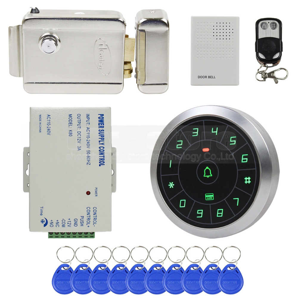 Door Access Control : Diysecur door bell khz rfid reader password keypad