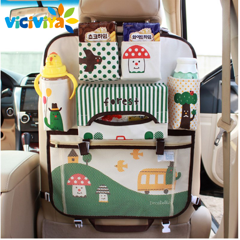 Seat Storage Bag Waterproof Universal Baby Stroller Bag Organizer Baby Car Hanging Basket Storage Stroller Accessories# cartoon waterproof universal baby stroller bag organizer baby car hanging basket storage stroller accessories