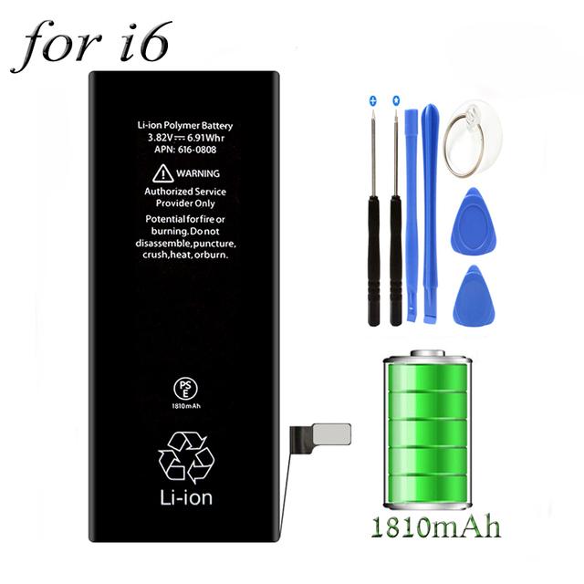 Marca nuevo 0 Ciclo 3.82 V 1810 MAh Li-ion Incorporada Teléfono Móvil batería de 4.7 pulgadas de la batería de apple iphone 6 6g iphone6 reemplazo