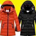 -30 градусов детские зимние куртки хлопка мягкой детской одежды 2016 большие мальчики теплая зима вниз пальто утолщение верхней одежды