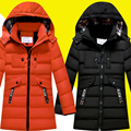-30 degree children's winter jackets cotton-padded children's clothing 2016 big boys warm winter down coat thickening outerwear