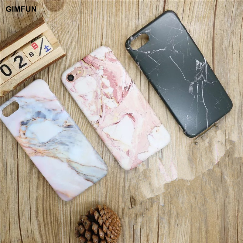 GIMFUN  High Quality Smooth Marble Phone Cases for IPhone6 Fundas for Apple IPhone 8 6S 7 7Plus  Marble Back Cover Fundas