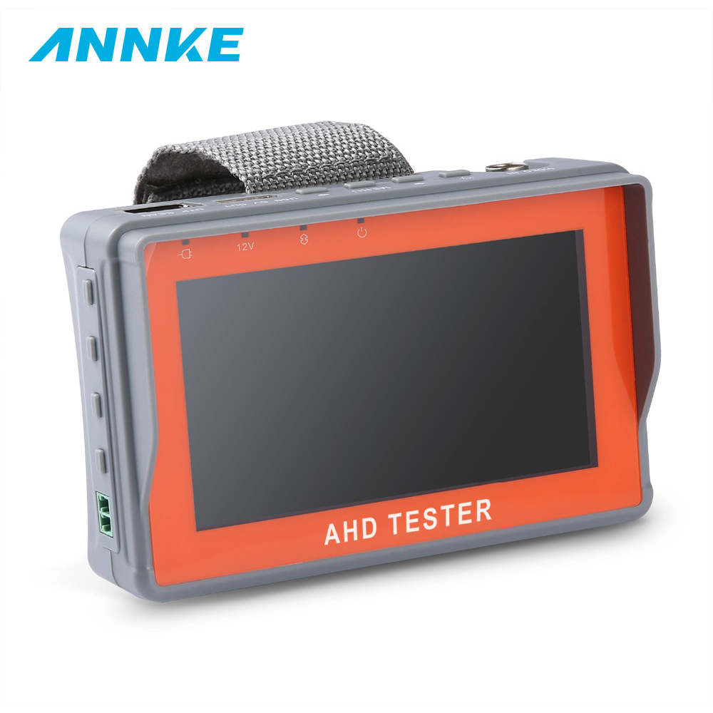 цены ANNKE 4.3 Inch LCD HD AHD CCTV Tester Monitor AHD 1080P Analog Camera Testing PTZ UTP Cable Tester 12V1A Output IP Converter