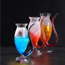 Креативный бокал стеклянная кружка с соломинкой Для холодного напитка для домашнего использования и вечернего ночного бара, бокал для вина, стакан для сока, стакан для белки