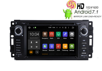 HIRIOT Car DVD GPS Player Android 7.1 Navigation For JEEP Chrysler Dodge Wrangler Compass Sebring Radio BT 2GRAM+16GROM+16GMAP