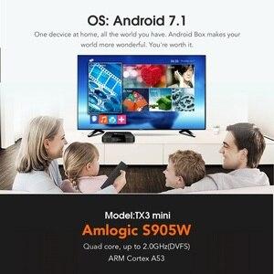 Image 3 - Caixa superior ajustada do núcleo do quadrilátero h.265 4 k wifi media player tx3mini 1 gb 8 gb vontar tx3 mini smart tv caixa android 7.1 2 gb 16 gb amlogic s905w