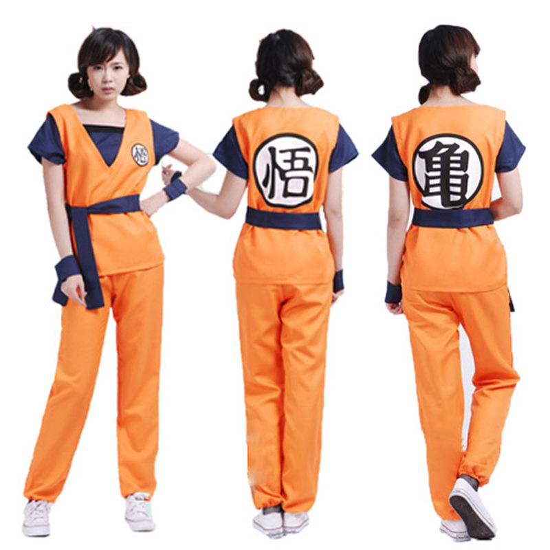 Anime Dragon Ball Z Son Goku Turtle And Wu Pattern Cosplay Costumes Women Man Outfits Battle Uniform Party Suits