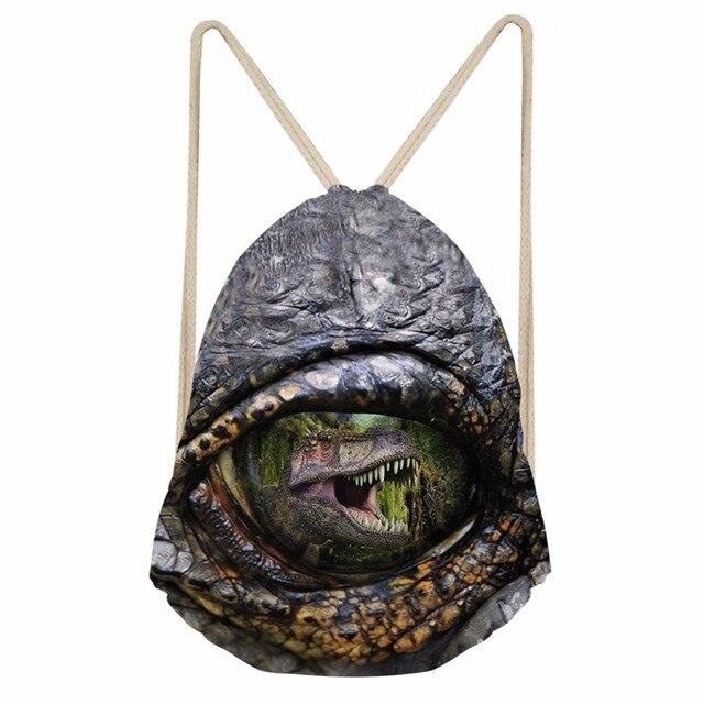 Noisydesigns Funny Animal eyes scare 3D Drawstring Bag Women Backpack  Teenager Girls Cinch Pocket Sport Travel Shoulder Bags