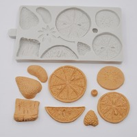 Many Fruits Shape Silicone Fondant Cake Decorating Mold Food Grade Cookies Cutter