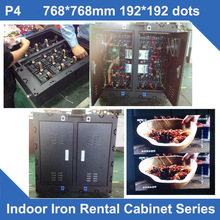 TEEHO P4 indoor LED Display Cabinet p4 led indoor iron cabinet fixed installation rental use led advertising led sign TV