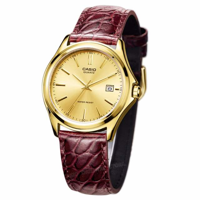 e2c56335185 CASIO Top Brand Luxury Watch 100% Genuin 2017 Gold Quartz Men Wrist Clock Relogio  Masculino