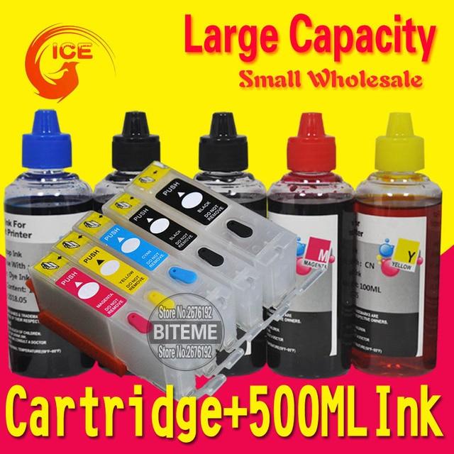 For Canon TS5040 TS6040 TS 5040 6040 Refillable Ink Cartridge PIxma Printer 5 Color