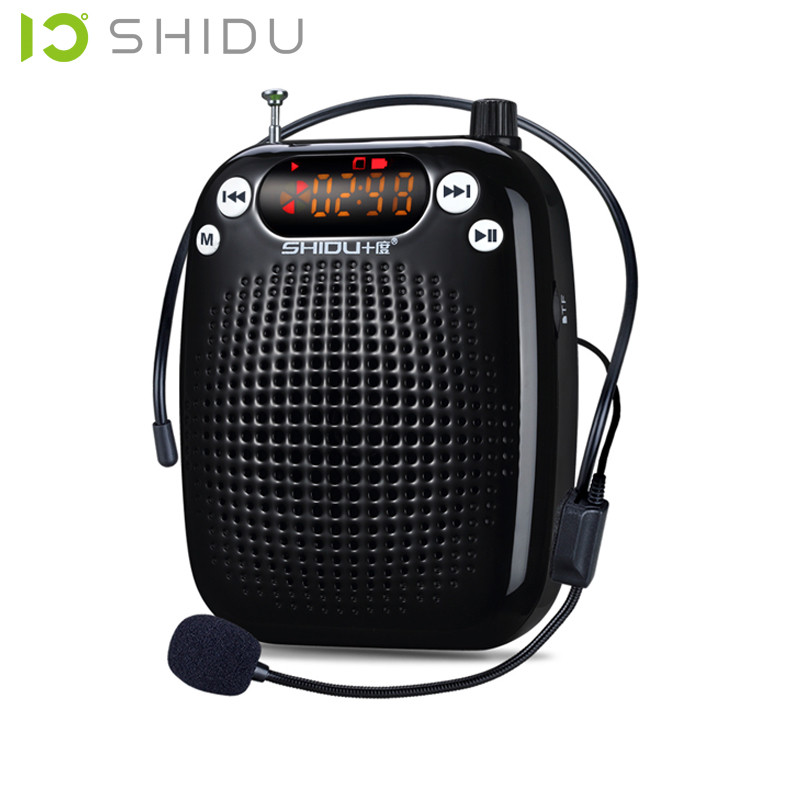 SHIDU S328 Profesor mini altavoz portátil amplificador de micrófono - Audio y video portátil