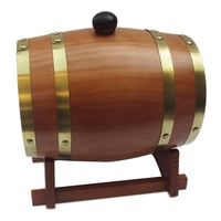 LIXF 3L Wooden Vintage Wood Barrel Timber Wine for Beer Whiskey Rum Brewing Port Hotel Restaurant Decorative Barrel Exhibition