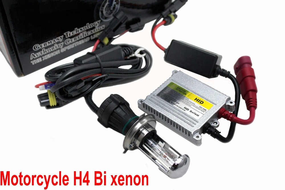 Free shipping Motorcycle Xenon H4 Socket High Low Light HID 12V 35W Slim Ballast Bi Xenon Kit 4300K 5000K 6000K 8000K 10000K