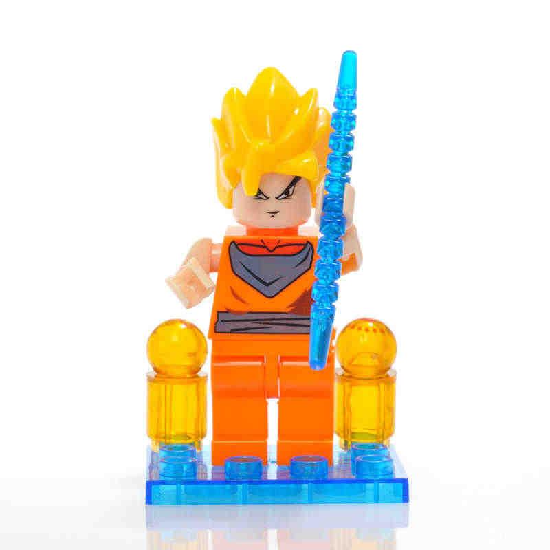 ONSHINE LỚN Dragon Ball Z Siêu Saiyan Son Goku Hành Động Hình Đồ Chơi Dragonball Z Gạch Đầu Mini Khối Xây Dựng