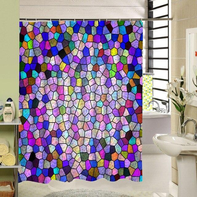Online Shop Art Design White Black Red Shower Curtain For Kid Who