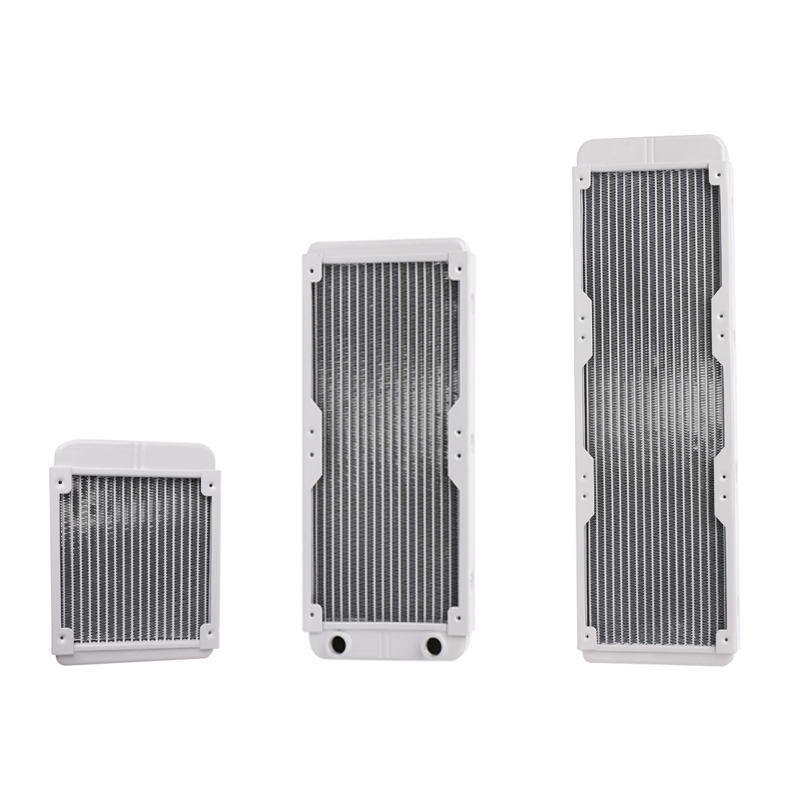 1PC White 120/240/360mm Aluminium Water Cooling Computer Radiator Water Cooler 18 Tube CPU Heat Sink Exchanger