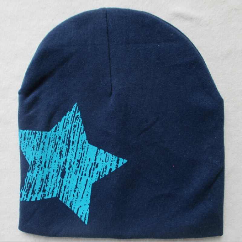 11 sombreros de bebé con estampado de estrellas gorros para niñas niños primavera Otoño Invierno sombrero de punto de algodón niños sombreros de invierno los niños