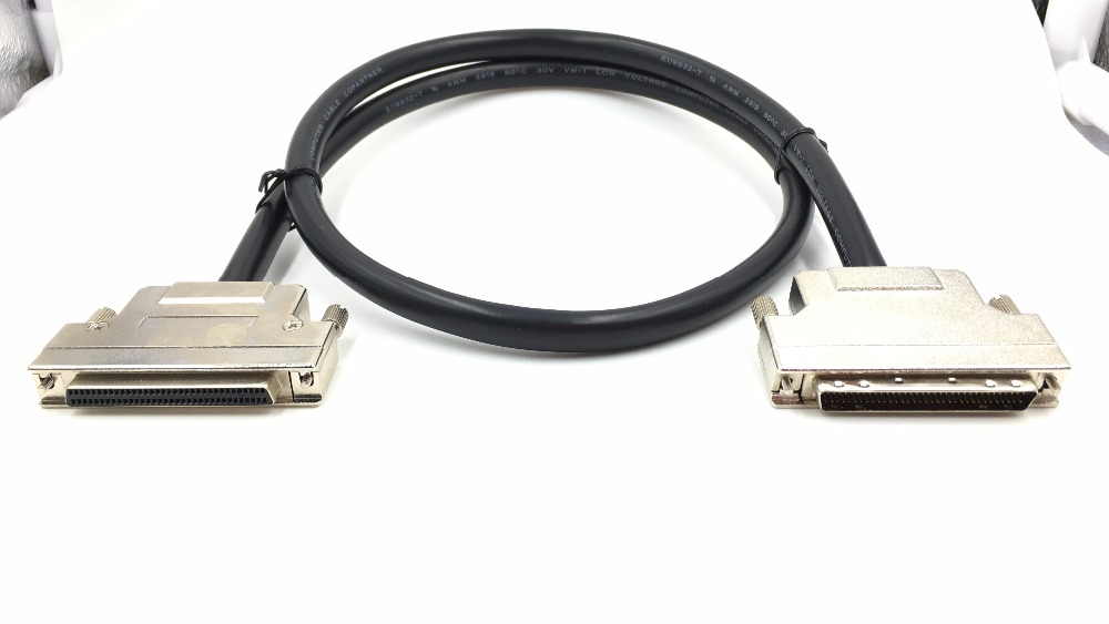 все цены на HPDB68 SCSI Cable HPDB 68 Pin Male to Female M/F Extension Cable Line Professional Customization онлайн