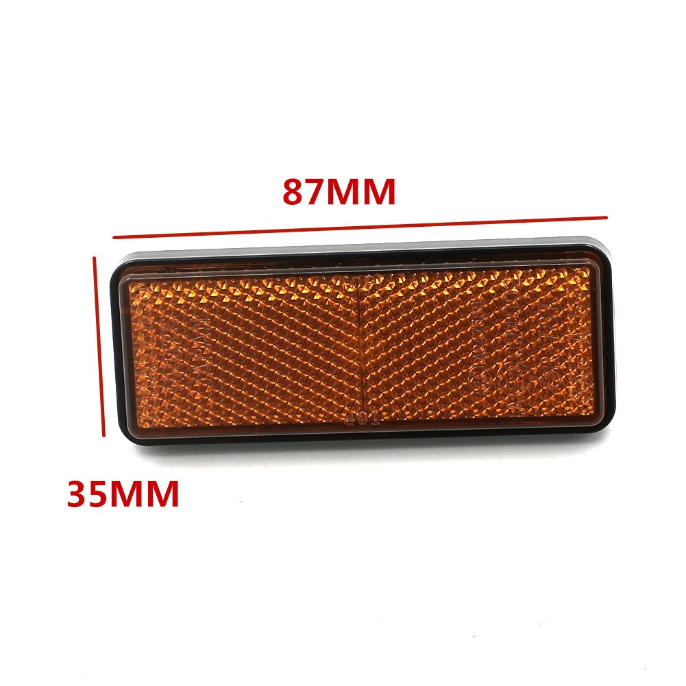 Us 551 10 Off2pcs Orange Rear Rectangle Reflector Truck Trailer Rv Atv Quad Motorcycle Dirt Bike Scooter Sticker In Covers Ornamental Mouldings