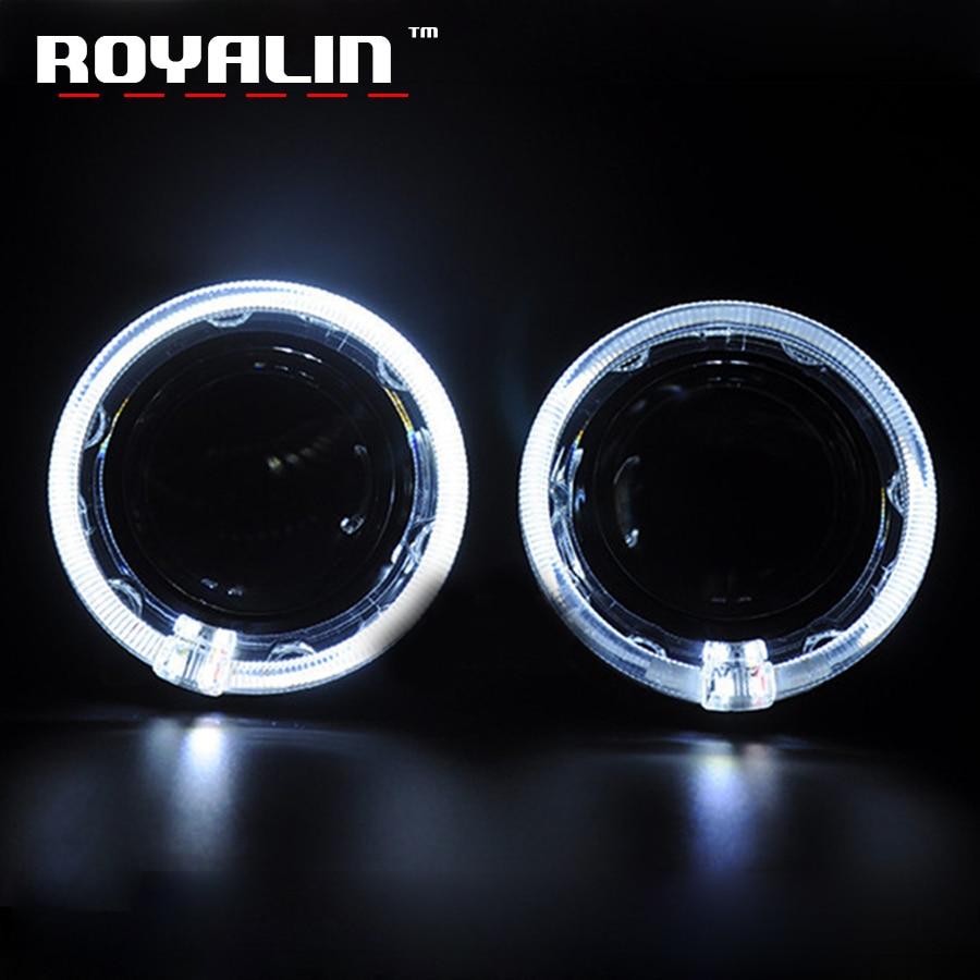ROYALIN Voiture A MENÉ Style Dartime Running Light 3.0 pouce Ange Yeux pour Q5 WST Hella Xénon Objectif Du Projecteur Haubans pour GTI DRL Lampe