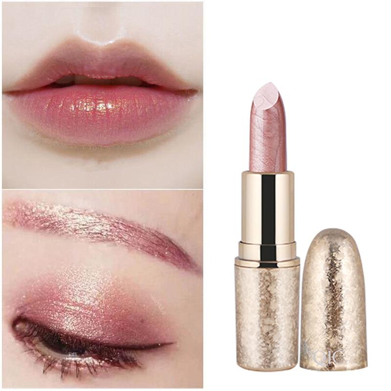 QIC Brand Professional Lips Makeup Waterproof Long Lasting Pigment Nude Pink Mermaid Shimmer Lipstick Luxury Makeup