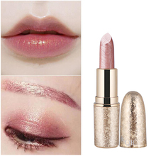 QIC Brand Professional Lips Makeup Waterproof Long Lasting Pigment Nude Pink Mermaid Shimmer Lipstick Luxury