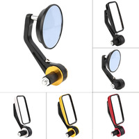 1 Pair High Quality 7 8 22mm Motorcycle Mirror Sport Bike Moto Bar End Mirror Rearview