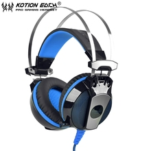 EACH GS500 Noise Cancelling Gaming Headset Headphone Stereo Bass Headband with Mic LED Light for Computer Laptop Mobile Phones