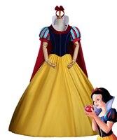 Snow White Costume Custom Made Adult Halloween Princess Cosplay Headband Cloak Dress