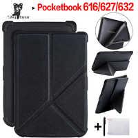 Etui en cuir pour Pocketbook 616/627/632 E-reader pour Pocketbook Basic Lux 2/touch Lux/touch HD 3 étui Origami + cadeau