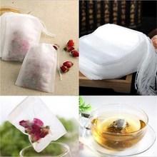 100 шт./лот пустой Ароматические Чай Сумки drawstring сумка 5.5×7 см печать фильтр для Пособия по медицине Кук травы специи свободные Чай сумка