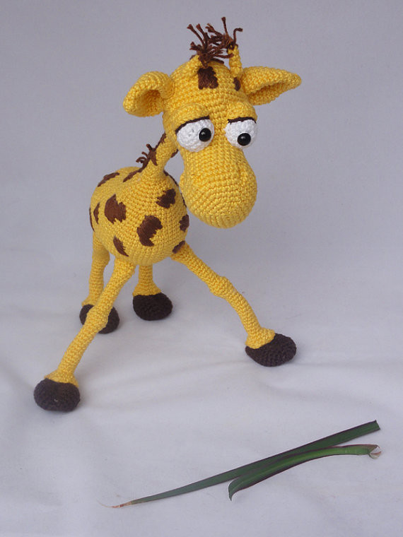 Amigurumi Haak Giraffe Speelgoed Pop Rammelaars In Amigurumi Haak