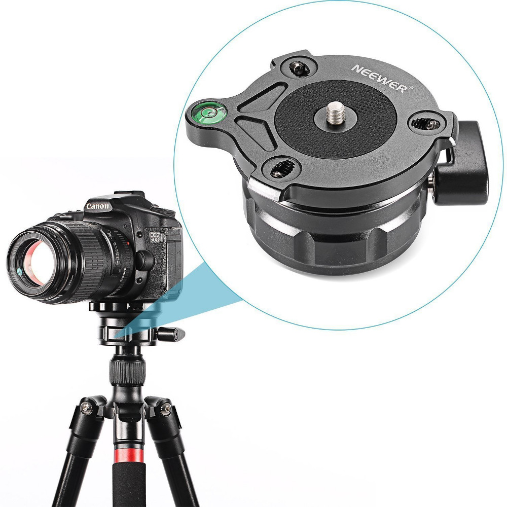 Neewer Tripod Leveling Base with Offset Bubble Level for Canon,Nikon,and Other DSLR Cameras