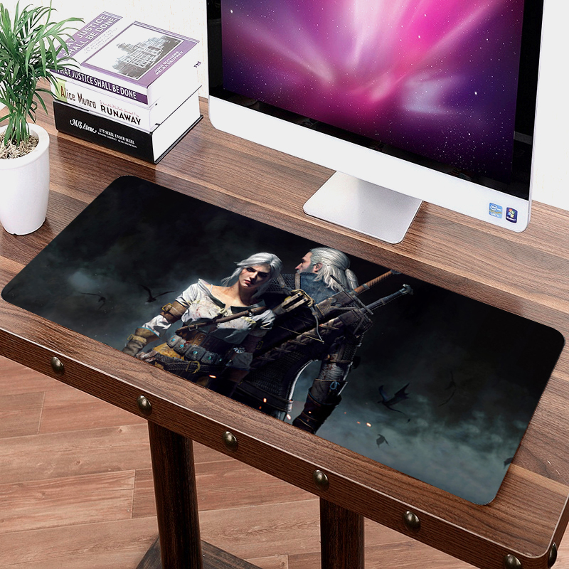 лучшая цена 70x30cm DIY Customize Rubber Mouse Pad Anti-slip Mice Mat Pattern Computer Mousepad Gaming The Witcher 3 Wild Hunt Mouse Mat