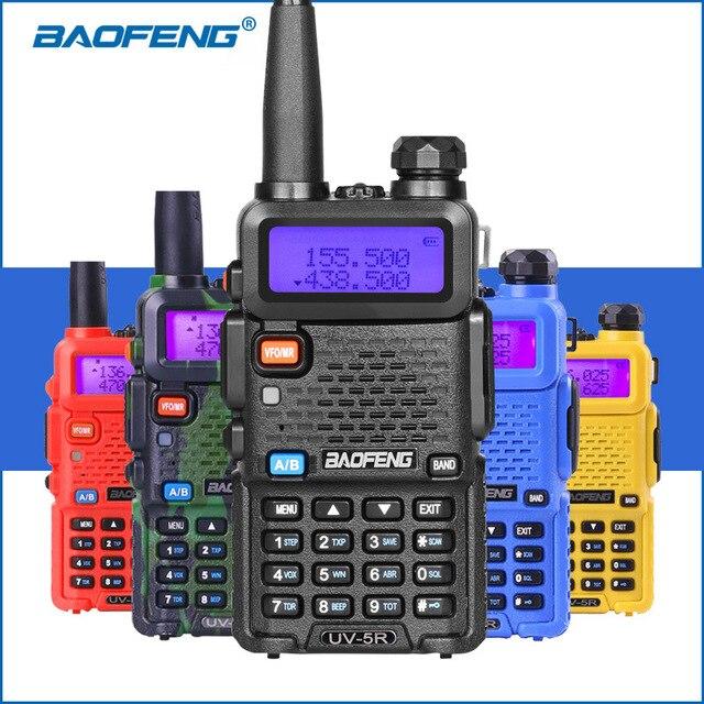Baofeng UV 5R Two Way Radio Mini Portable 5W Dual Band VHF UHF Walkie Talkie UV5R 128CH FM Transceiver Hunting Ham Radio Scanner