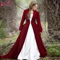 Red manga Comprida Jacket Elegante Do Casamento Rússia inverno Bolero De Noiva simples capa das mulheres À Noite Jaqueta Plus Size Z993