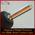 100% Оригинал CNlight Premium 35 W HID Xenon H1 фар Один Луч Лампы 3000 К Золотисто-Желтый Свет, высокое Качество Стайлинга Автомобилей