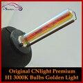 100% original premium 35 w escondeu cnlight h1 xenon cabeça lâmpadas lâmpadas de feixe único 3000 k amarelo dourado claro, Carro de alta Qualidade Styling