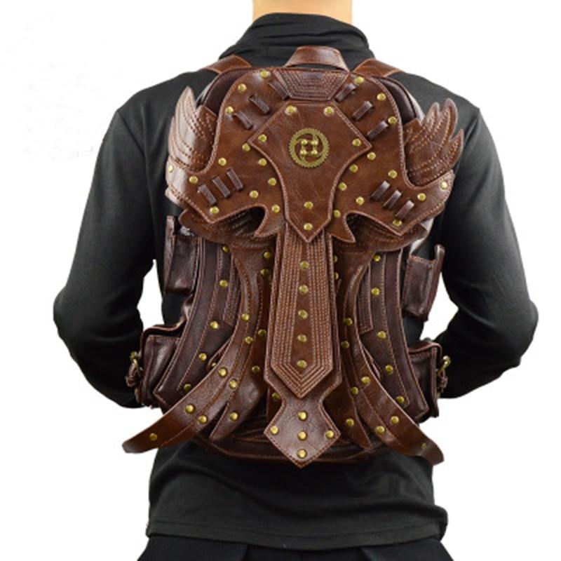 цены Fashion Gothic Steampunk Skull Retro Rock bag Men Women Punk Waist Bag Shoulder Bag Phone Case Holder women messenger Bag 2018