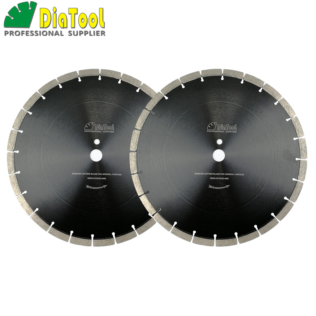 DIATOOL 2pcs/pk 14inch/360mm Professional segmented Sintered Diamond saw blade Wet Cutting Disc for concrete Block Paver 2 pcs super thin sintered diamond blade cutting disc for jade agate stone wet grinding with cooling water jgs031