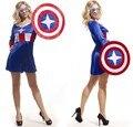 Хэллоуин одежда капитан америка косплей костюмы хэллоуин женский для вечернего ну вечеринку cospaly