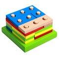 Moda Geométricas Montagem Blocos Do Bebê Brinquedos Educativos Quebra-cabeças De Madeira Das Crianças Dos Miúdos Conjunto Durável ZS003