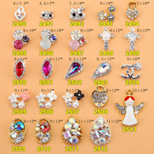 2000PCS/Lot New Crown Flow Charm Design Glitter Clear Rhinestone Nail Decorations 3d Alloy Nail Jewelry DIY Nail Art Studs Tools