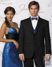 Fashionable Two Button Black Groom Tuxedos Groomsmen Men's Wedding Prom Suits Bridegroom (Jacket+Pants+Vest+Tie) K:789