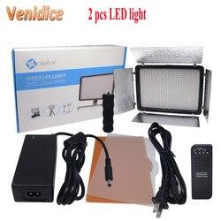 2pcs Mcoplus LED-720 Bi-color LED Light 720PCS LED Lamp 3200K-7500K 4700LM Video Light for Canon Nikon  Cameras