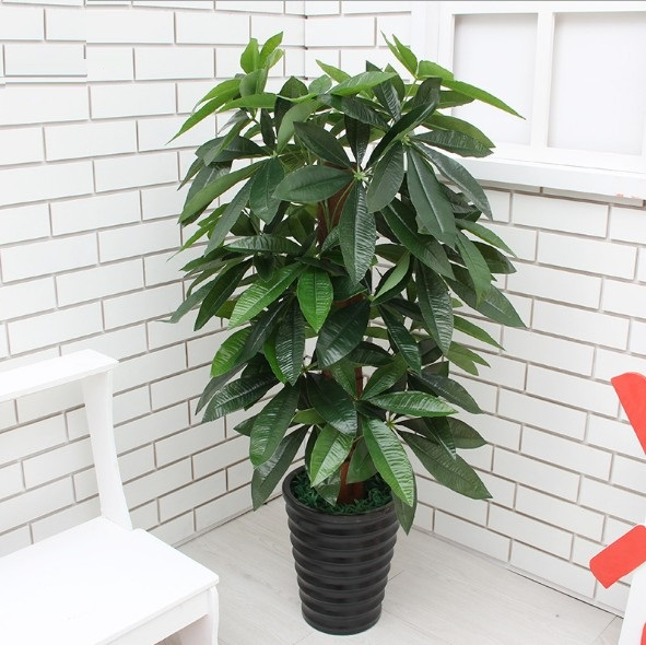 Szvvi 90cm Artificial Fake Large Money Tree Real Touch Glued Plastic Rich No Pot For Hotel Market Decoration In Plants From Home